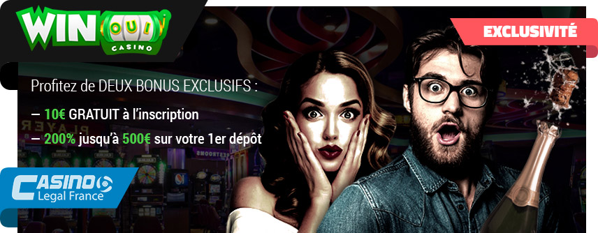offre bonus exclusif winoui casino legal france