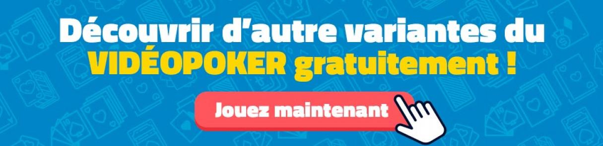 découvrir variantes video poker gratuit