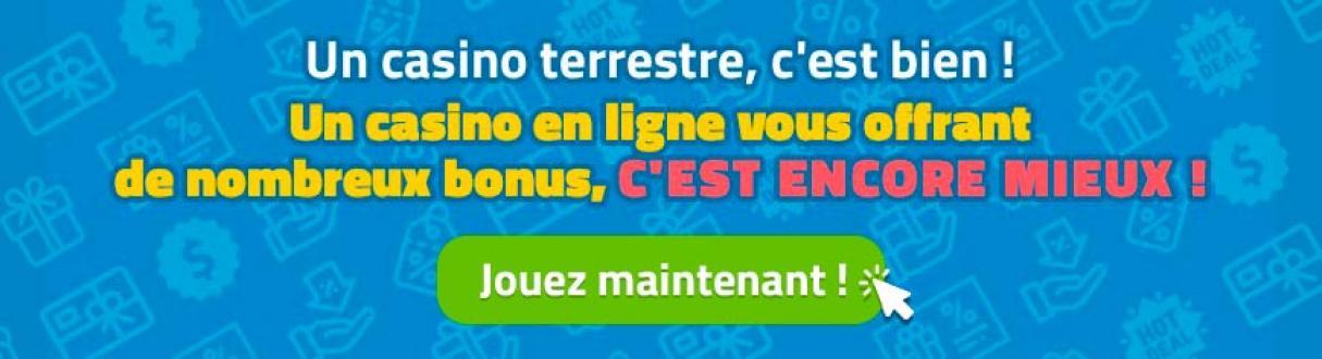 casino online vs casino terrestre bonus