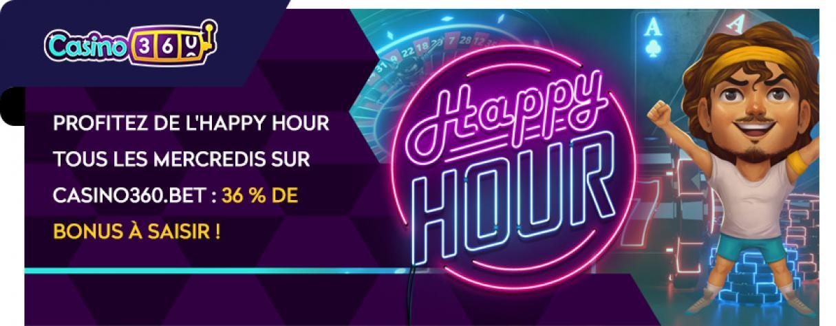 casino360 bonus happy hour