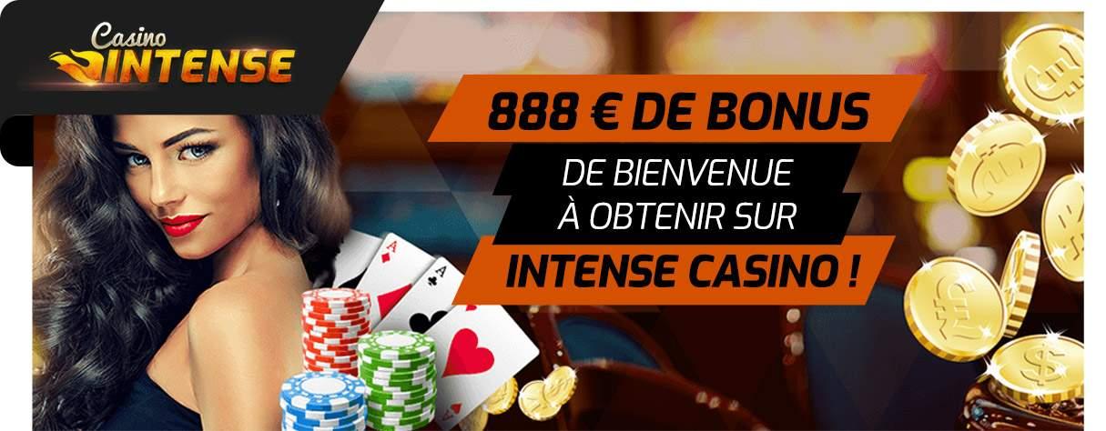 bonus de bienvenue Casino Intense