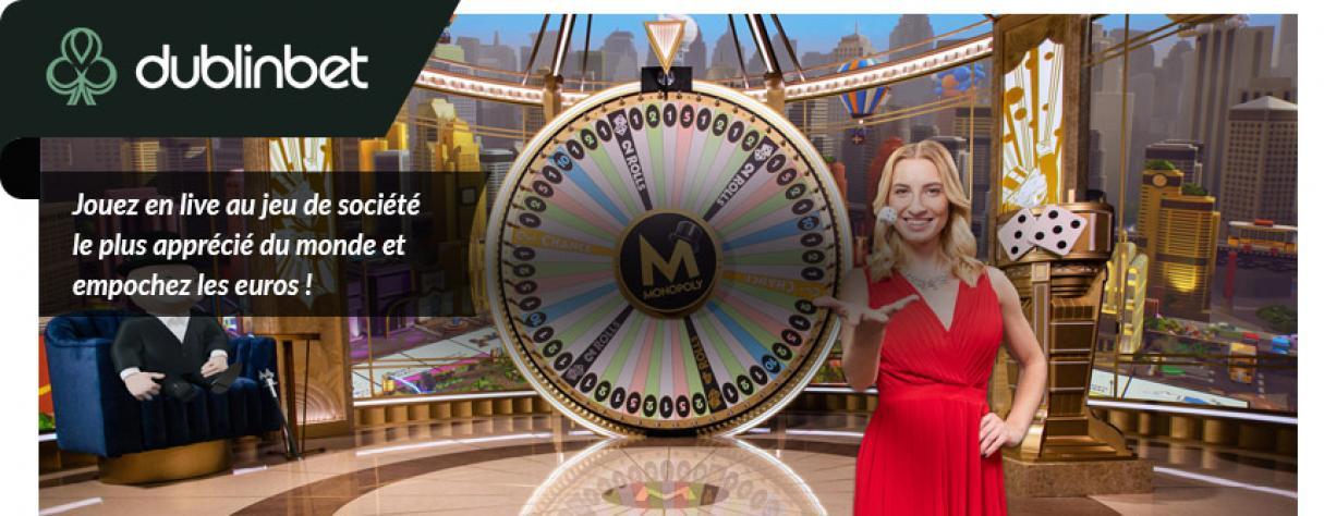 design monopoly roulette présentatrice live