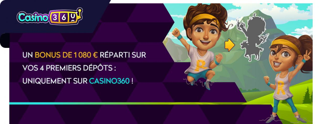casino360 bonus de bienvenue