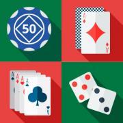 jeux casino cartes jetons dés