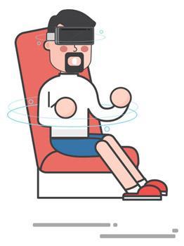 bonhomme dessin casque réalité virtuelle