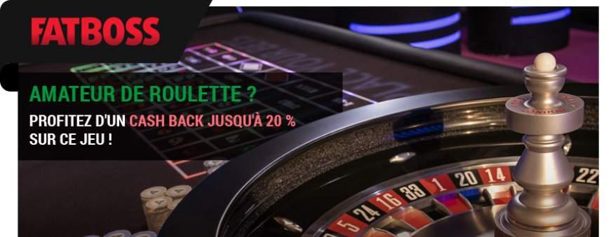 fatboss casino cashback 20% roulette