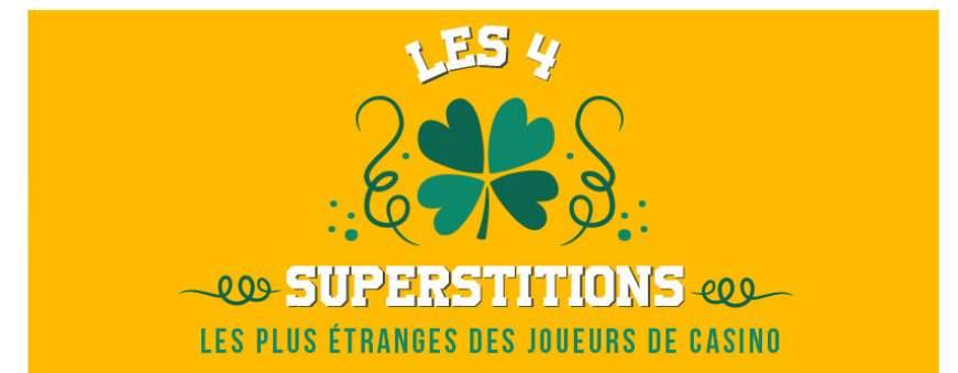 4 superstitions les plus étranges des joueurs de casino