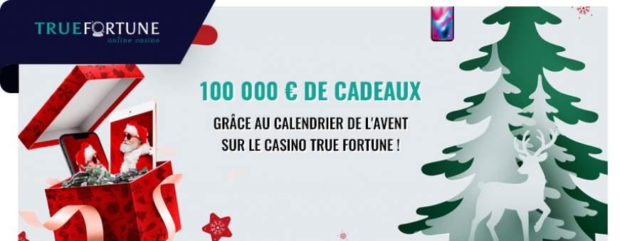 True Fortune casino calendrier noel